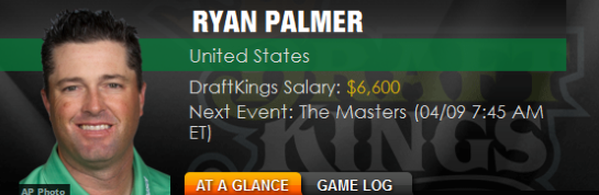 Betting Ryan Palmer